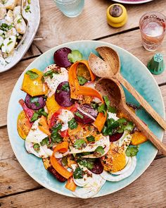 Crunchy slices of carrot, beetroot and fennel are dressed with a tangy orange and mustard dressing and scattered with fresh corainder to make this vibrant side salad.