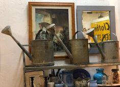 European Watering Cans   $58 Each   Vintage Affection Dealer #1680  White Elephant Antiques 1026 N. Riverfront Blvd., Dallas, TX 75207  Open: Mon. to Sat. 10A to 5P Sun. 1P to 5P