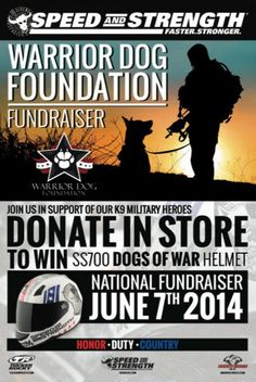 #WarriorDogFoundation National Fundraiser Day  donations can be made via warriordogfoundation.org or at participating vendor sites. June 2014