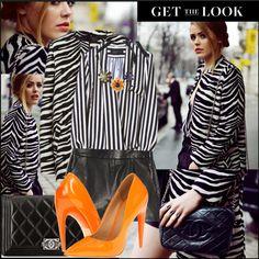 """Kayture - Zara striped coat!"" by lenka078 ❤ liked on Polyvore"
