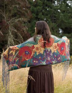 Nonnas Garden Shawl Pattern - Knitting Patterns and Crochet Patterns from KnitPicks.com