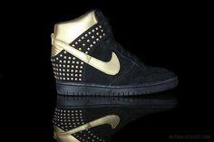 Nike Dunk Sky Hi - Gold Stud // via @wendy lam