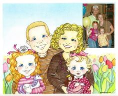 susan fitch design: Illustrated Family Portraits - pricing and info