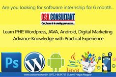 We encourage student career in technologies like #WebDesign and #Development, #Net, #PHP with #CMS, #Java, #Digitalmarketing, #GraphicDesigning and #softwaretesting.  Enroll your name to be the part of our team and get practical work experience... Hurry up !