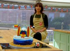 The winning creation: Sam'ssports  cake was appropriately blue for the Showstopper challe...