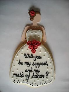 Wedding Dress Cookies for Maid of Honor