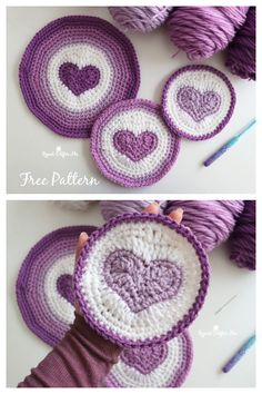 Crochet Cup Cozy, Crochet Mat, Crochet Geek, Crochet Round, Crochet Gifts, Free Crochet, Crochet Circle Pattern, Crochet Coaster Pattern, Crochet Circles
