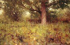 "#838 Summer Maple 1974 24"" x 36"" Oil On Canvas Richard Schmid"