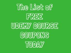60 best free udemy course with discount coupon code images on today free premium skillshare classes and udemy course coupons 06262016 fandeluxe Gallery