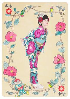 コレクション きもの|きもの * ふりふ  kimono Furifu 2012Autumn  http://www.furifu.com/collection/#