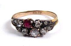 Antique Diamond and Ruby Ring, circa 1880