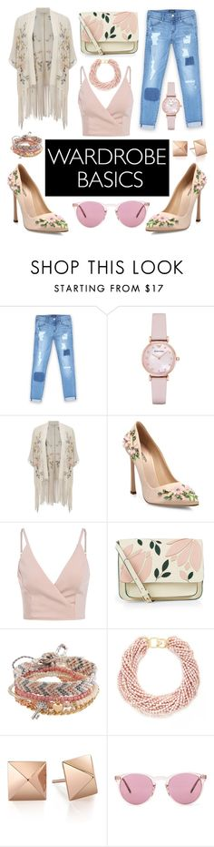 """Spring Wardrobe Basics"" by brandneweyez ❤ liked on Polyvore featuring Bebe, Emporio Armani, Miss Selfridge, Giambattista Valli, Accessorize, Aéropostale, Kenneth Jay Lane, Oliver Peoples and vintage"