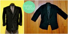 How to alter a bulky blazer to fit your dimensions. Not too hard and really worth the effort.