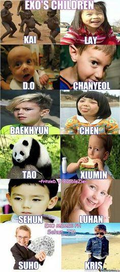 Hahaha! Plausible. I like how Kai's children are black (cause the members call him black)