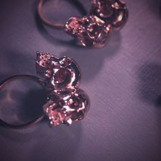 Rose gold lovel conjoined skull ring by bloodmilk