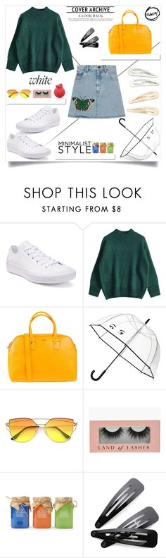 """""""Flutterby.-M"""" by amar-maya ❤ liked on Polyvore featuring Converse, White Label, Furla, Kate Spade, Kitsch and amarmaya"""