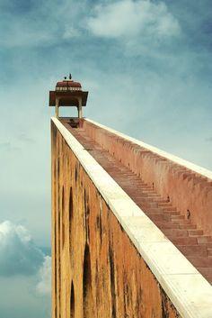 Stairs to Samrat Yantra in Jantar Mantar, India
