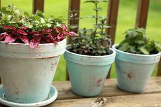 My distressed painted flower pot DIY — april bern