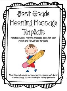 First Grade Morning Message Pack