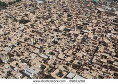 Aerial view of ancient city, Ardakan, Iran