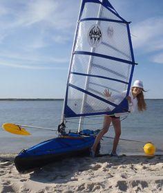 Balogh™ Sail Designs (BSD) kayak (including sea kayaks) & canoe sail rigs - makers of BOSS™ and BATWING™ sailing rigs and outriggers. Best Fishing Kayak, Canoe And Kayak, Sea Kayak, Outrigger Canoe, Classic Sailing, Kayak Adventures, Dragon Boat, Small Boats, Catamaran