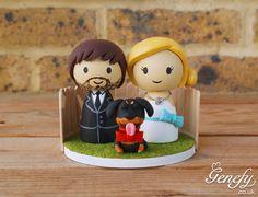 Cute wedding cake topper with pet  https://www.facebook.com/genefyplayground