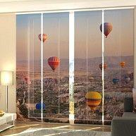 Fotogardine Heissluftballon Schiebevorhang Flachenvorhang Fotodruck Auf Mass Kaufen Bei Hood De Schiebevorhang Flachenvorhang Gardinen