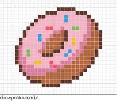 perler beads pattern simpsons donut - Google Search