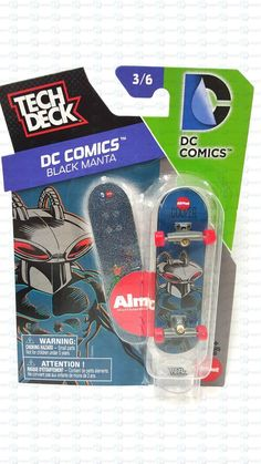 Tech Deck DC Comics Black Manta Almost Skateboarding 3/6