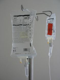 Hospital saline drip.