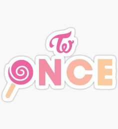 ONCE - TWICE Sticker