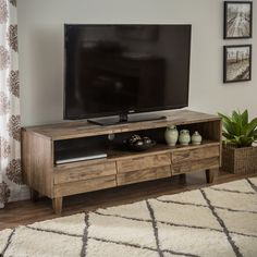 Venetian 3-drawer Entertainment Center - Great Deals on Entertainment Centers. Dimensions: 59.1 inches wide x 17.8 inches deep x 20.9 inches high  $369
