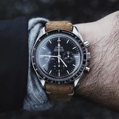 "hodinkee på Instagram: ""Gorgeous photo of the @omega Speedmaster on a @hodinkee strap from @uncrate"""