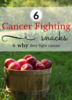 6 Cancer Fighting Snacks & WHY they fight cancer **Healthy eating is SO important and even more so when you are fighting cancer. Your body needs support and one of the best ways to do that is through the food you eat. www.healthfaithstrength.com