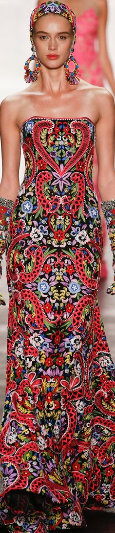 Naeem Khan Spring 2016 Ready-to-Wear Couture Indian Fashion, Love Fashion, High Fashion, Fashion Show, Fashion Design, Fashion 2016, Trendy Fashion, Naeem Khan, Beautiful Gowns