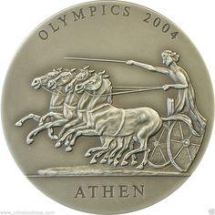 Quadrica Olympics Athens 2004 1oz silver  coin .999 Ghana