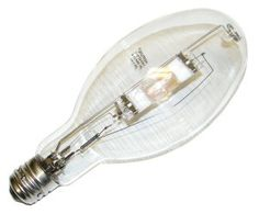 400 watt ED37 Mogul Screw Base Clear Metal Halide