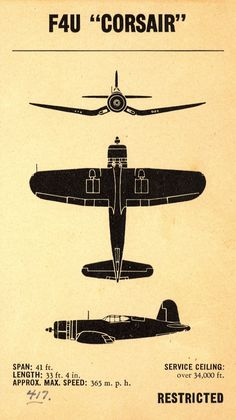 WWII Aircraft Recognition Manual - ID Silhouettes ~ indicia of authority