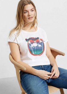 T-shirt algodão imagem - T-shirts Violeta | Violeta by MANGO Portugal