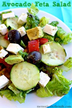 Avocado Feta Salad by memoriesbythemile.com