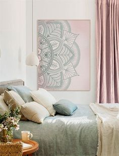 Teen Girl Bedrooms, decorating pin number 8330373168 for a really snug adjustment. Bohemian Wall Decor, Boho Bedroom Decor, Bedroom Art, Blush Bedroom, Cozy Bedroom, Bedroom Ideas, Bedroom Decor For Teen Girls, Teen Room Decor, Trendy Bedroom