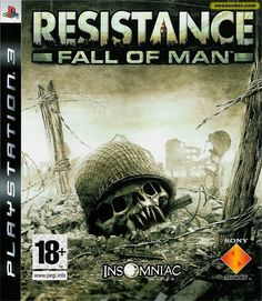 RESISTANCE 1: FALL OF MAN  -  is a science-fiction horror first-person shooter video game for the PlayStation 3. It was developed by Insomniac Games and published by Sony Computer Entertainment. The game is set in an alternate history 1951, and follows Sgt. Nathan Hale as he and the human resistance forces attempt to drive a mysterious alien-like invasion out of Britain.