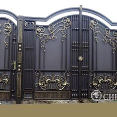 Manufacturer Shutter Doors And Gates India Gate Wall Design, Grill Gate Design, House Main Gates Design, Steel Gate Design, Front Gate Design, House Front Design, Compound Wall Design, Modern Front Door, Wrought Iron Gates