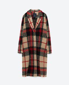 Image 8 of CHECK COAT from Zara