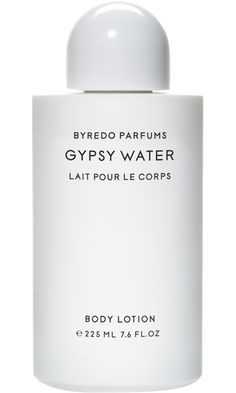 Byredo Gypsy Water Body Lotion:  a lemon and patchouli fresh and down to the earth mix with a close sillage.