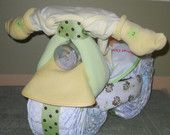 Tricycle Diaper Cake for Baby Shower Centerpiece or Gift