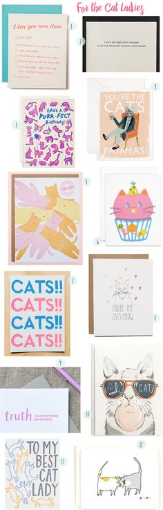 National Cat Day Card Round Up / Oh So Beautiful Paper