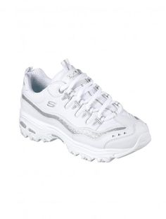 Shop for Women's Skechers D'Lites Now and Then Sneaker White/Silver. Get free delivery On EVERYTHING* Overstock - Your Online Shoes Outlet Store! Best Sneakers, Casual Sneakers, Baskets, Skechers D Lites, Memory Foam Shoes, Zapatillas Casual, Estilo Retro, Women's Pumps, Nike Shoes