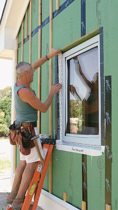 Modern flashing products more easily integrate windows and other penetrations with the WRB to keep water out, while vented rainscreens reduce pressure that can drive water into walls. Types Of Insulation, Wood Cladding, Carpentry Projects, Wooden Buildings, Tiny House Cabin, Home Repairs, Home Improvement Projects, Home Remodeling, Building A House