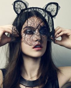 IDEA - Lace face veil headband instead of a traditional veil